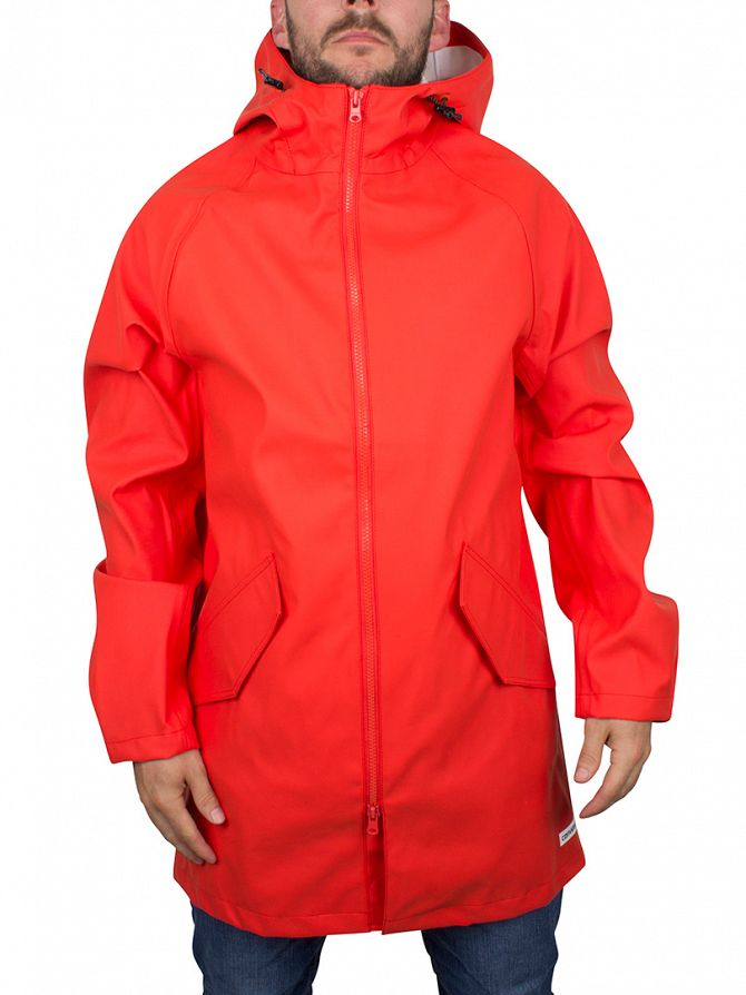 Converse Signal Red Rubber Fishtail Rain Jacket
