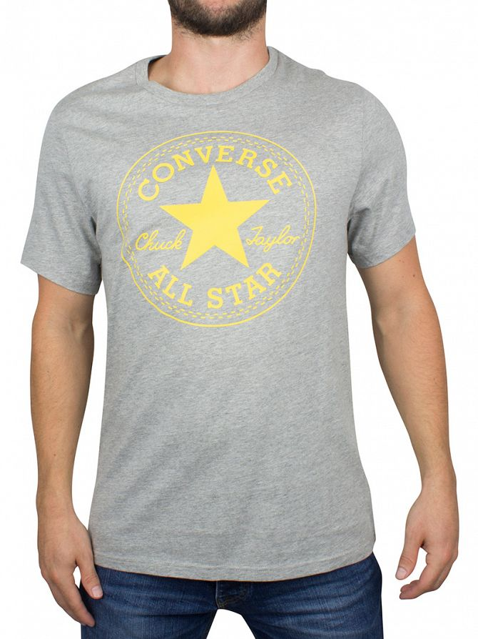 Converse Vintage Grey Heather Stamp Graphic T-Shirt