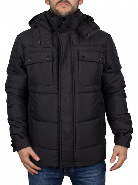 Jack & Jones Black Cam Puffa Jacket