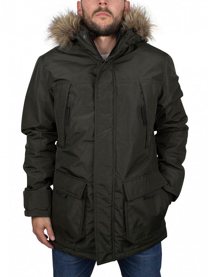 jack jones rosin hollow parka jacket hollowparka jacket 23668. Black Bedroom Furniture Sets. Home Design Ideas