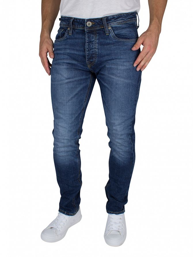 jack jones blue denim tim original 012 slim fit jeans timoriginal. Black Bedroom Furniture Sets. Home Design Ideas