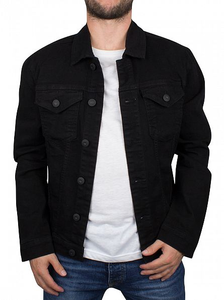 Only & Sons Black Chris Camp Denim Jacket