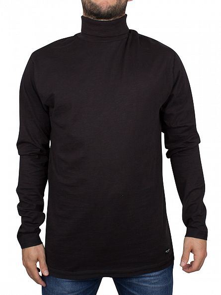 Only & Sons Black Nuno Longsleeved Roll Neck T-Shirt