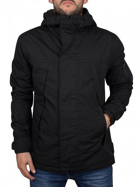 Only & Sons Black Osvald Hooded Short Jacket