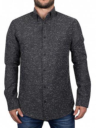 Only & Sons Black Slim Fit Sirius Flecked Shirt