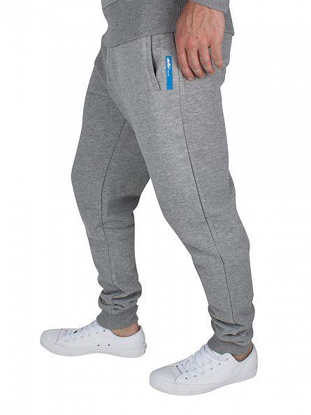 Ellesse Grey Marl Italia Teramo Logo Joggers