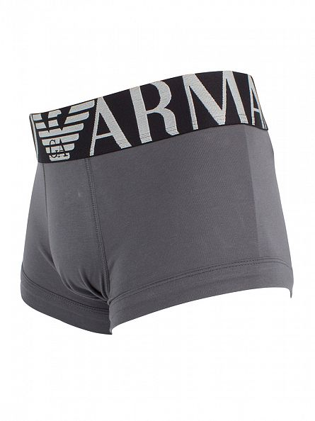 Emporio Armani Grey Logo Waistband Trunks