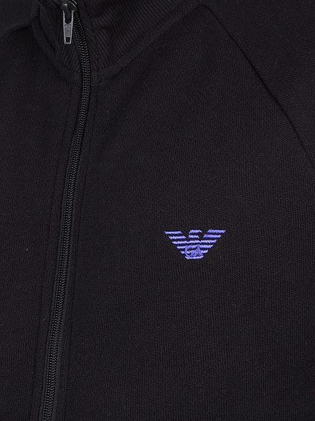 Emporio Armani Black Logo Zip Knit
