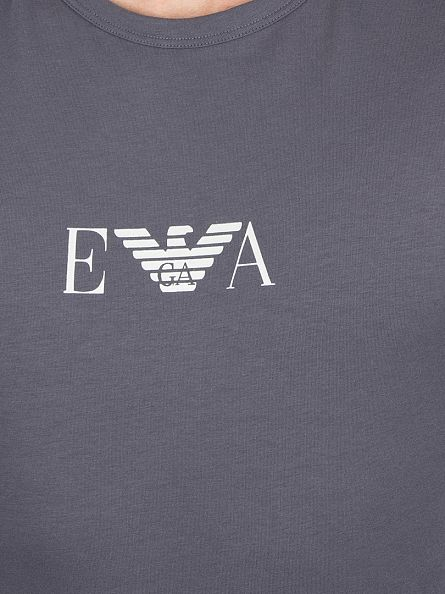 Emporio Armani Steel Grey Longsleeved Logo T-Shirt