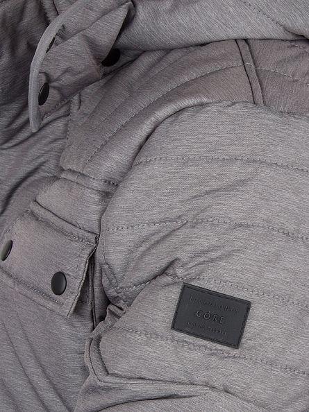 Jack & Jones Grey Melange Cam Puffa Jacket
