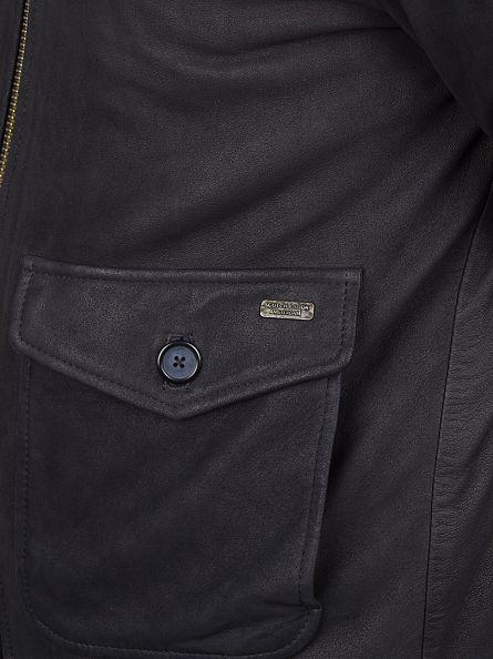 Scotch & Soda Night Leather Sherpa Bomber Jacket