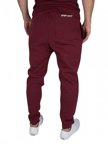 11 Degrees Burgundy Core Logo Joggers