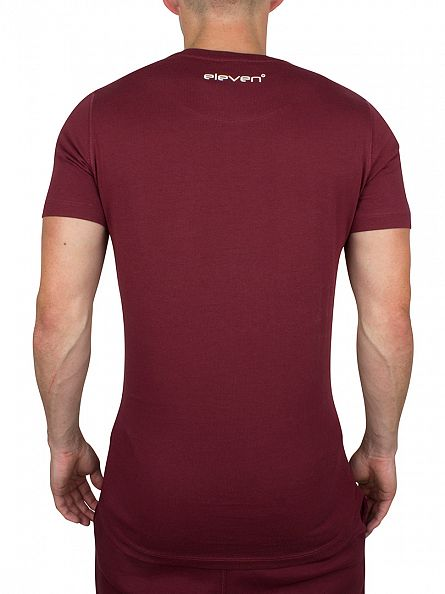 11 Degrees Burgundy Core Logo T-Shirt