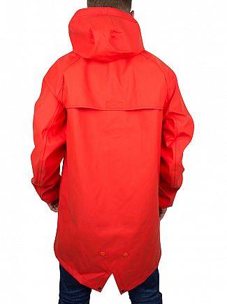 Converse Signal Red Rubber Fishtail Rain Jacket