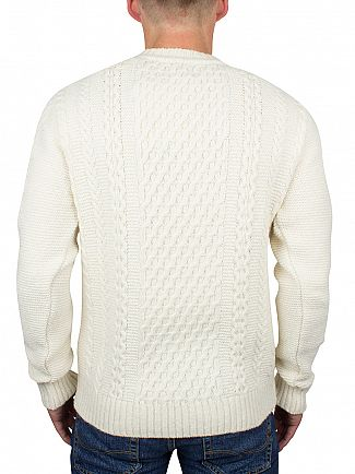 Edwin Off White United Cable Knit