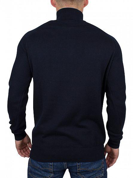 Ellesse Navy Italia Longsleeved Cristallo Mesh Raglan Zip Knit
