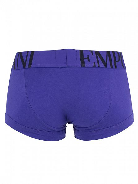 Emporio Armani Royal Blue Logo Waistband Trunks