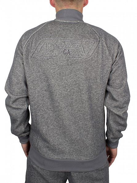 Emporio Armani Grey Logo Zip Knit