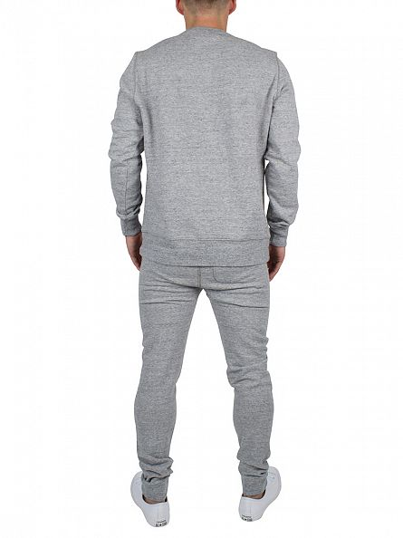 Franklin & Marshall Sport Grey Left Chest Logo Marled Sweatshirt Tracksuit