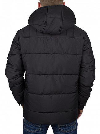 Jack & Jones Black Cam Puffa Jacket