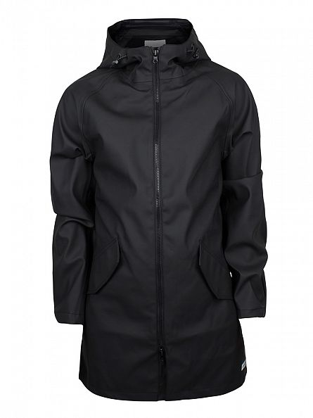 Converse Black Rubber Fishtail Rain Jacket