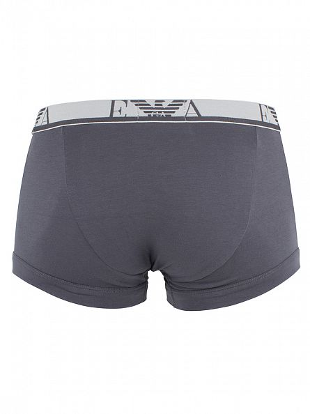 Emporio Armani Black/Red/Grey 3 Pack Logo Waistband Trunks