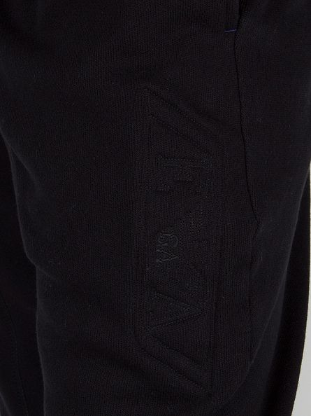 Emporio Armani Black Embossed Logo Joggers
