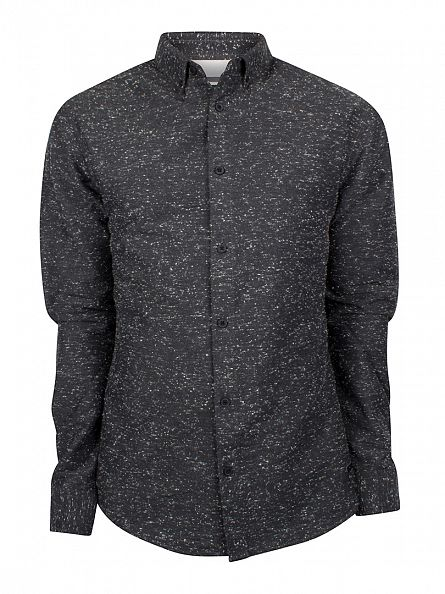 Only & Sons Black Slim Fit Sirius Flecked Shirt