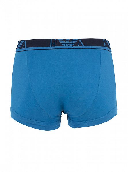 Emporio Armani Purple/Light Blue/Navy 3 Pack Logo Trunks
