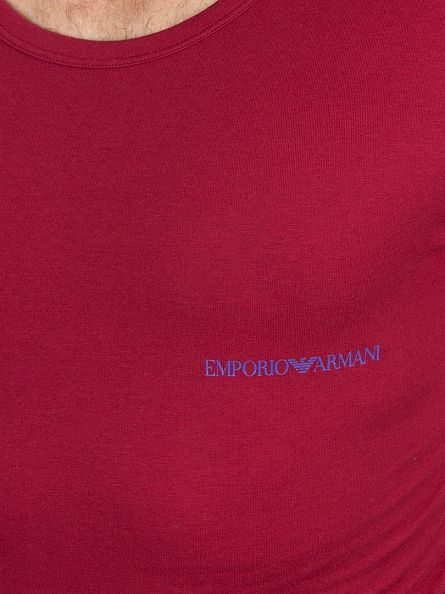 Emporio Armani Blue/Red 2 Pack Logo T-Shirts