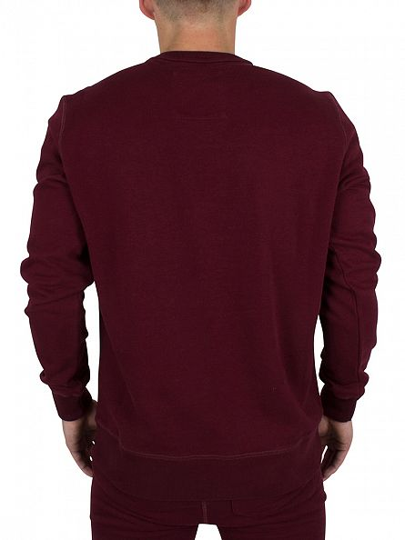 Franklin & Marshall Bordeaux  Left Chest Logo Sweatshirt Tracksuit