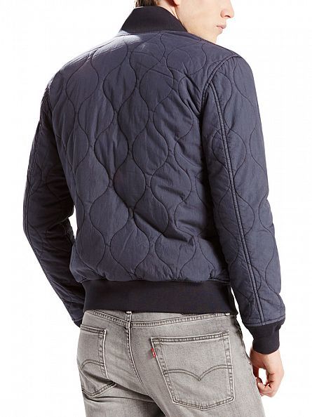 Levi's Dark Blue Thermore Quilted Nightwatch Bomber Jacket
