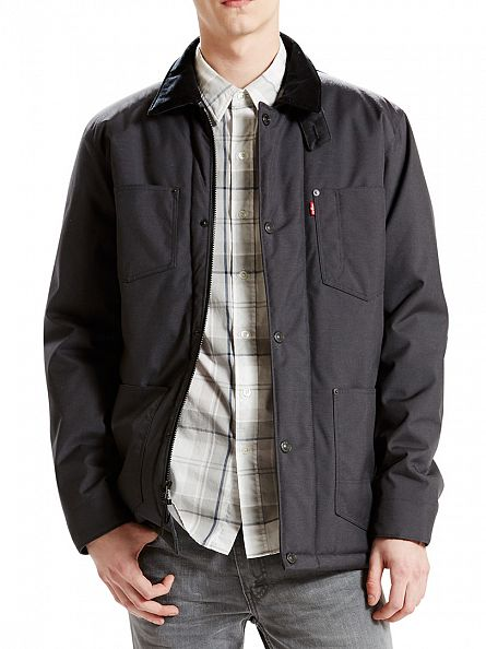 Levi's Grey Thermore Utility Coat Ebony Jacket