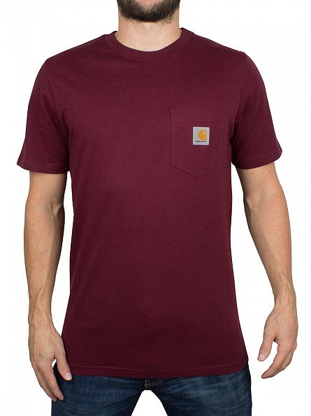 Carhartt WIP Chianti Heather Logo Pocket T-Shirt
