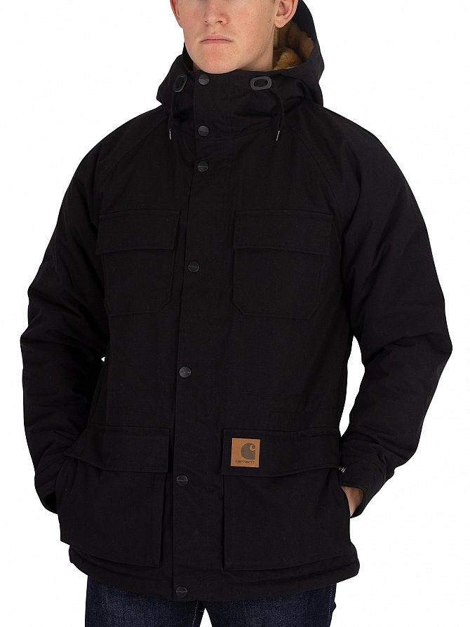 Carhartt WIP Black Mentley Logo Jacket