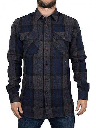 Minimum Dark Grey Melange Karaka Checked Overshirt
