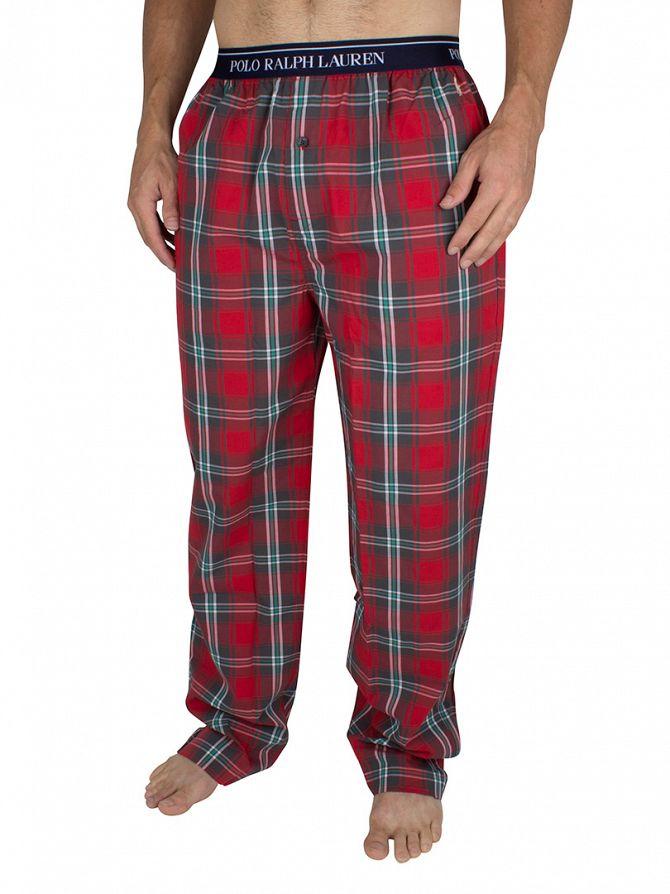 Polo Ralph Lauren Red Logo Waistband Plaid Pyjama Bottoms