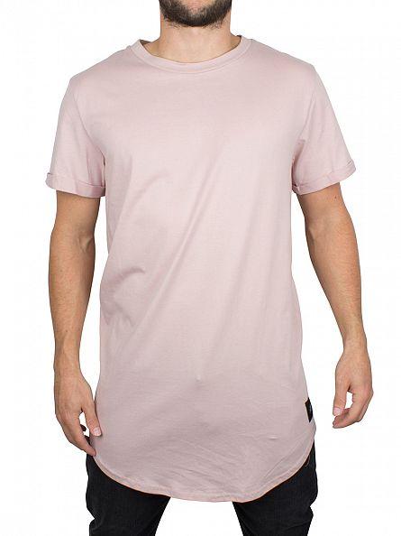 Sixth June Beige Curved Hem Logo T-Shirt