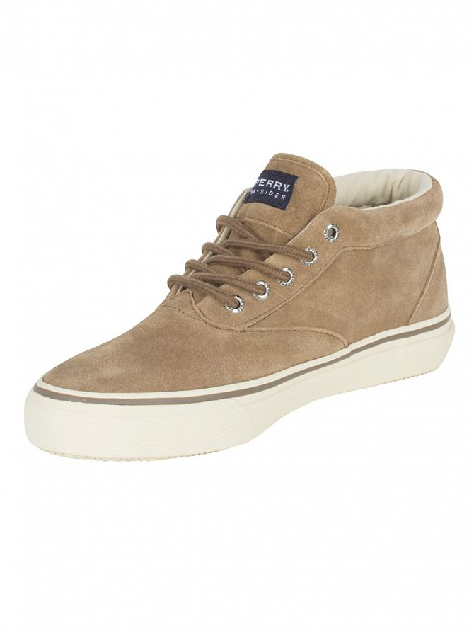 Sperry Top-Sider Tan Striper Chukka Suede Boots