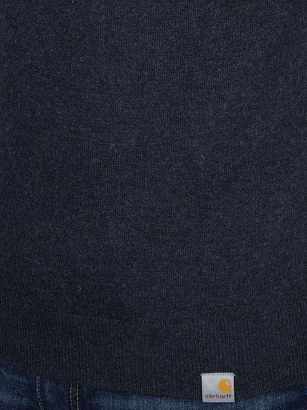 Carhartt WIP Navy Heather Playoff Logo Knit