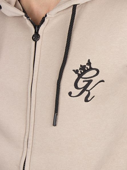 Gym King Nomad Sand Core Logo Tracksuit Top Zip Jacket