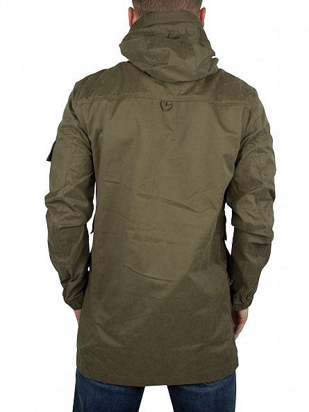 Bellfield Khaki Hylon Lightweight Parka Jacket