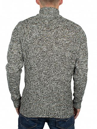 Only & Sons Forest Night Dwist Twisted High Neck Knit