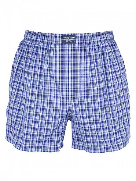 Polo Ralph Lauren Pink/Blue/Navy 3 Pack Woven Logo Trunks