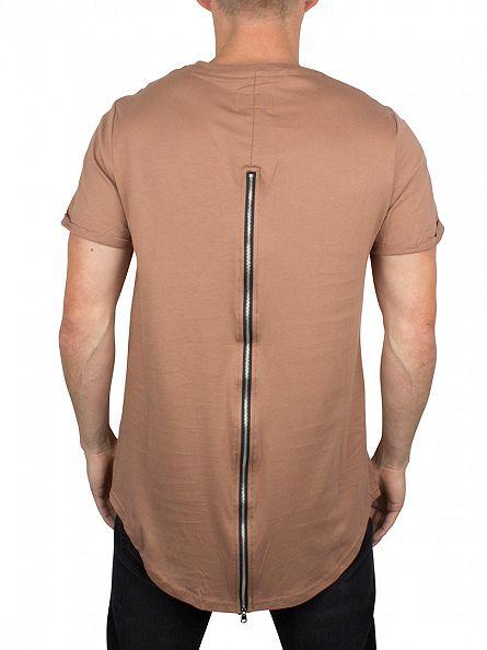 Sixth June Keny Curved Hem Zip T-Shirt