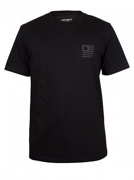 Carhartt WIP Black/Black Loose Fit State Logo T-Shirt