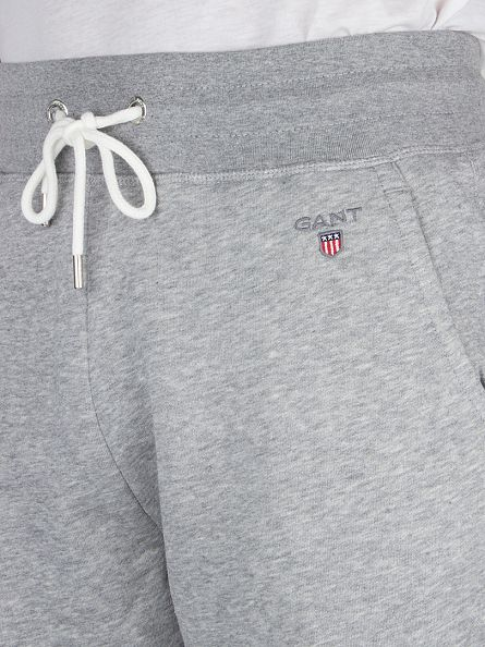 Gant Grey Melange Original Logo Joggers