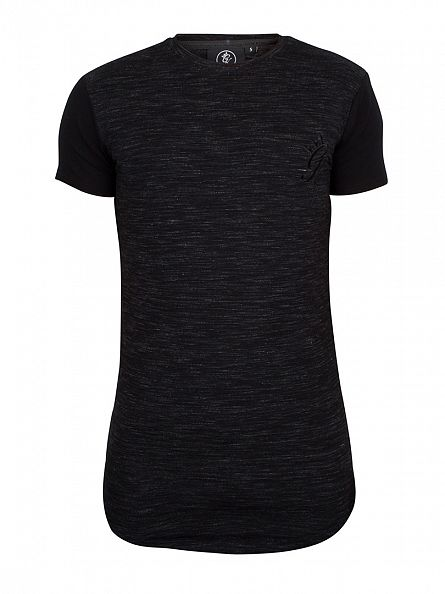Gym King Black/Black Contrast Logo Raglan T-Shirt