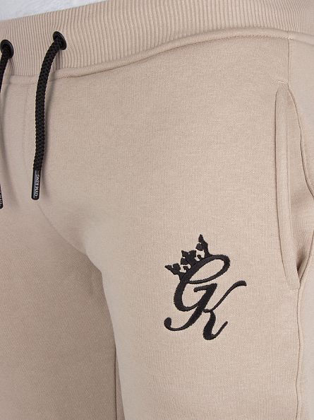 Gym King Nomad Sand Fleece Bottom Logo Joggers