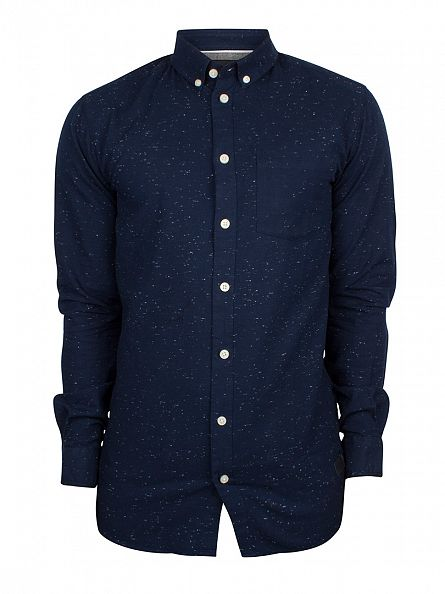 Minimum Dark Iris Bronxwood Flecked Shirt